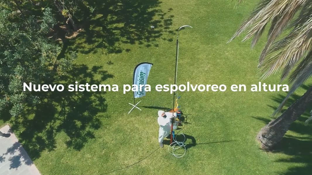 POLSYSTEM. Sistema aplicación espolvoreo en palmáceas